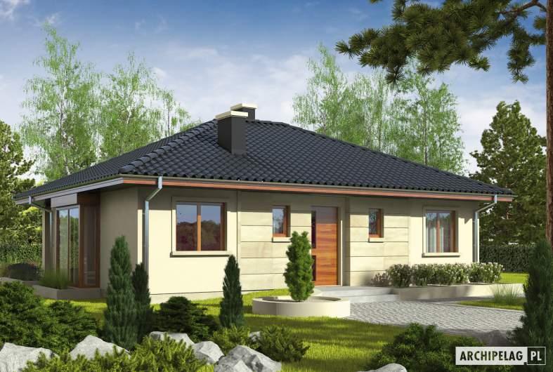 Projekt domu Margo (30 stopni) - wizualizacja frontowa