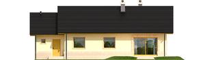 Projekt domu Erin II G1 - elewacja tylna