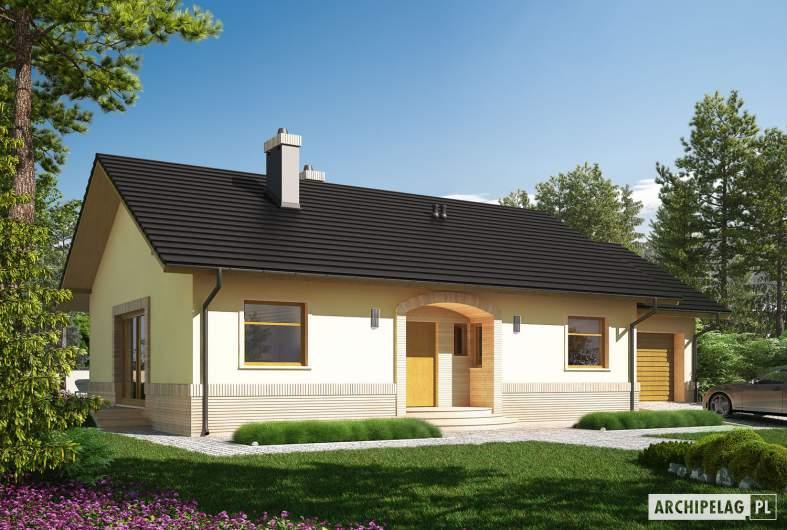 Projekt domu Erin II G1 - wizualizacja frontowa