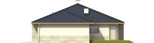 Projekt domu Flori II G1 - elewacja prawa