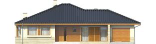 Projekt domu Flori II G1 - elewacja frontowa