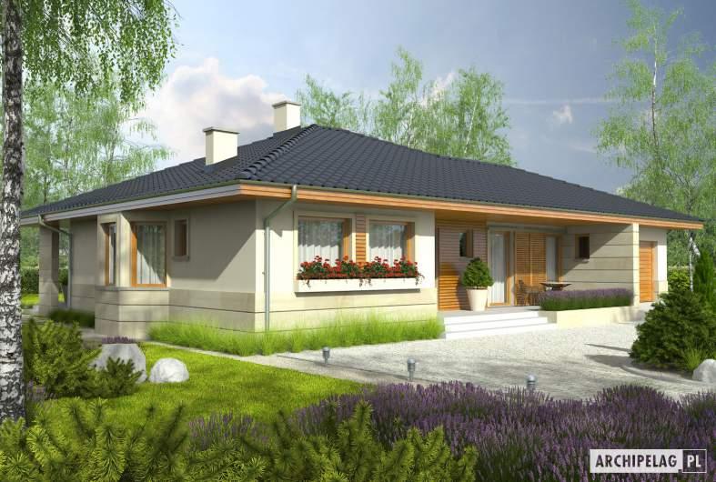 Projekt domu Flori II G1 - Projekty domów ARCHIPELAG - Flori II G1 - wizualizacja frontowa