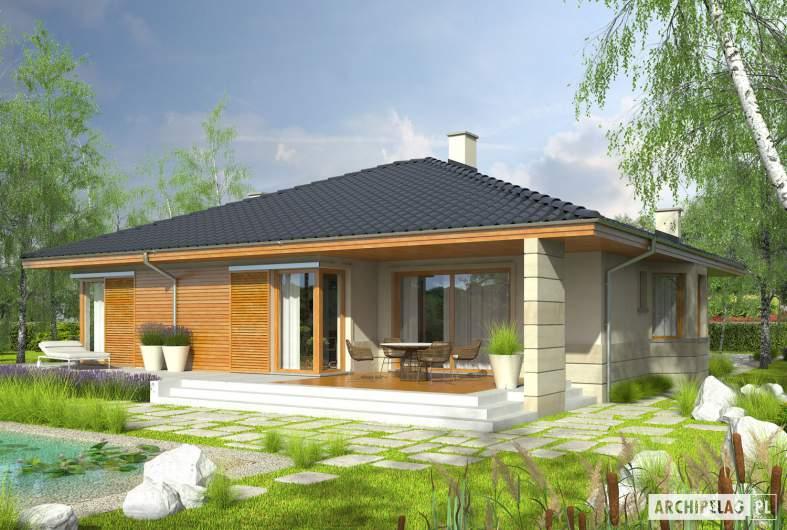 Projekt domu Flori II G1 - Projekty domów ARCHIPELAG - Flori II G1 - wizualizacja ogrodowa