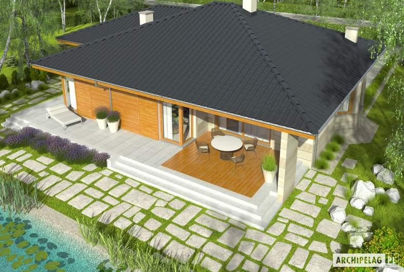 Projekt domu Flori II G1 - Projekty domów ARCHIPELAG - Flori II G1 - widok z góry