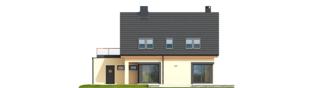 Projekt domu Tim IV G1 ECONOMIC (wersja A) - elewacja prawa
