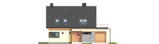 Projekt domu Tim IV G1 ECONOMIC (wersja A) - elewacja frontowa