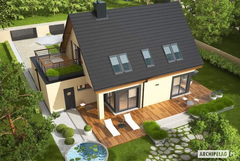 Projekt domu Tim IV G1 (wersja A) ECONOMIC - widok z góry