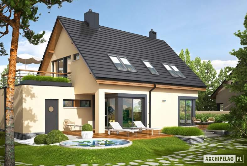 Projekt domu Tim IV G1 (wersja A) ECONOMIC - wizualizacja ogrodowa