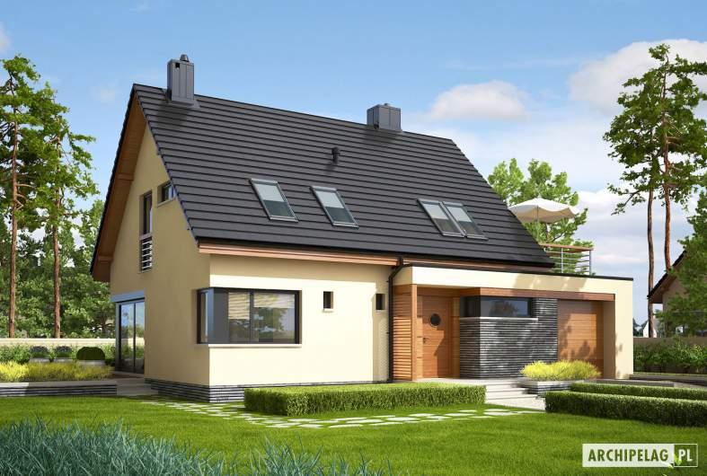 Projekt domu Tim IV G1 (wersja A) ECONOMIC - wizualizacja frontowa