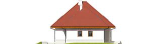 Projekt domu Jarek G1 - elewacja lewa