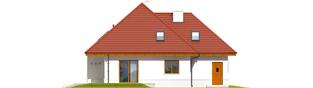 Projekt domu Jarek G1 - elewacja tylna
