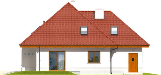 Jared G1 - Projekty domów ARCHIPELAG - Jarek G1 - elewacja tylna