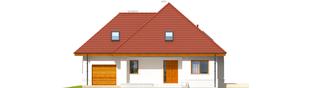 Projekt domu Jarek G1 - elewacja frontowa