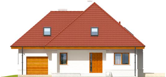 Jared G1 - Projekty domów ARCHIPELAG - Jarek G1 - elewacja frontowa