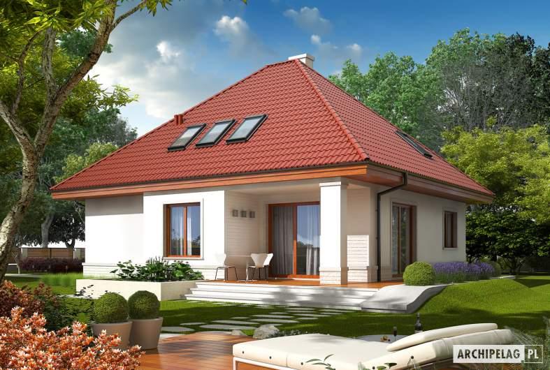 Projekt domu Jarek G1 - Projekty domów ARCHIPELAG - Jarek G1 - wizualizacja ogrodowa
