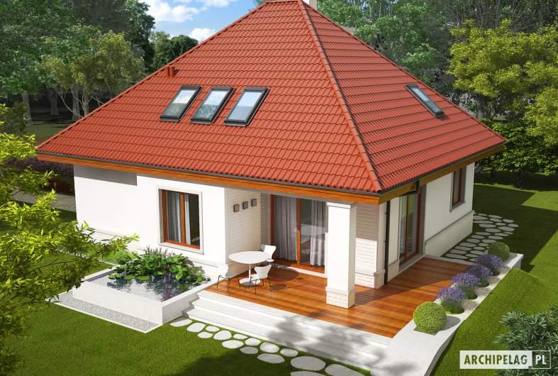 Projekt domu Jarek G1 - Projekty domów ARCHIPELAG - Jarek G1 - widok z góry