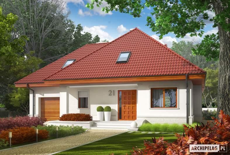 Projekt domu Jarek G1 - Projekty domów ARCHIPELAG - Jarek G1 - wizualizacja frontowa