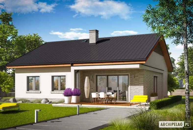 Projekt domu Mini 11 - wizualizacja ogrodowa