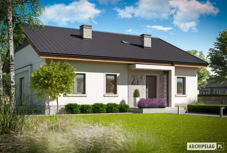 Projekt domu Mini 11 - wizualizacja frontowa