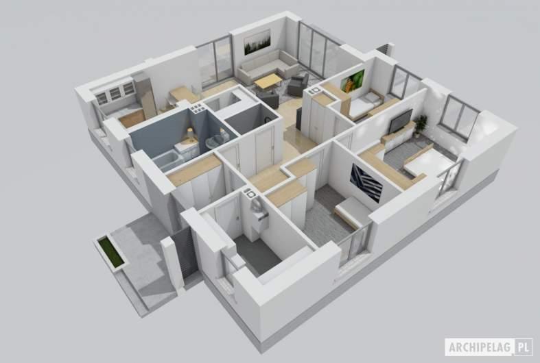 Projekt domu Mini 11 - wnętrza sypialnia