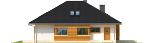 Projekt domu Liv 3 - elewacja lewa