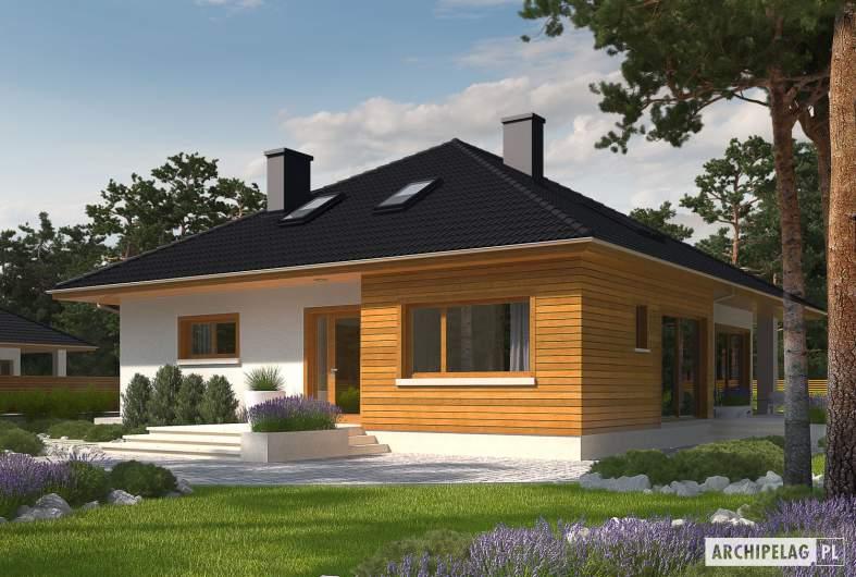 Projekt domu Liv 3 - Projekty domów ARCHIPELAG - Liv 3 - wizualizacja frontowa