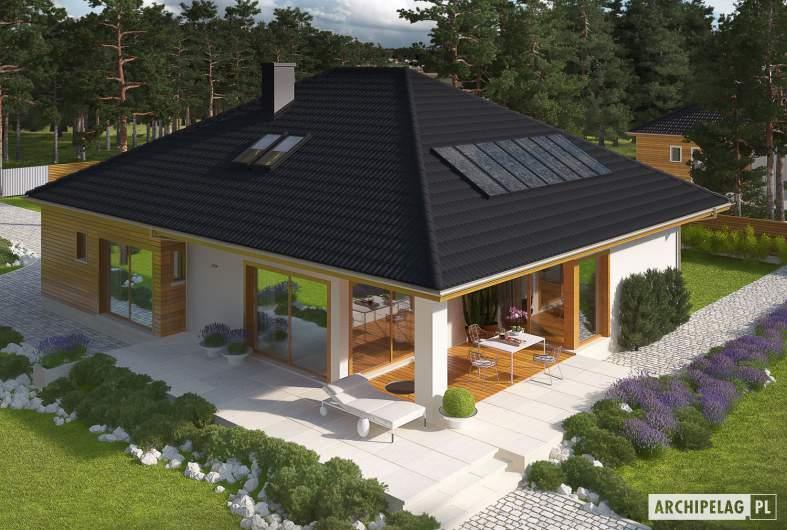 Projekt domu Liv 3 - Projekty domów ARCHIPELAG - Liv 3 - widok z góry