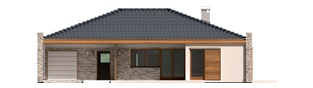 Projekt domu Marlon II G1 (z wejściem od południa) - elewacja frontowa