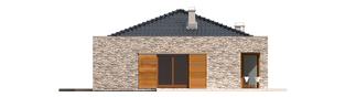 Projekt domu Marlon II G1 (z wejściem od południa) - elewacja prawa