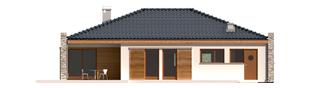 Projekt domu Marlon II G1 (z wejściem od południa) - elewacja tylna
