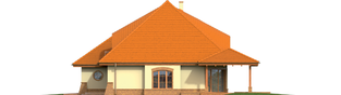 Projekt domu Seweryna (mała) G2 - elewacja prawa