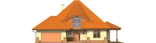 Projekt domu Seweryna (mała) G2 - elewacja frontowa