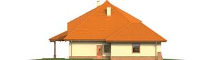 Projekt domu Seweryna (mała) G2 - elewacja lewa
