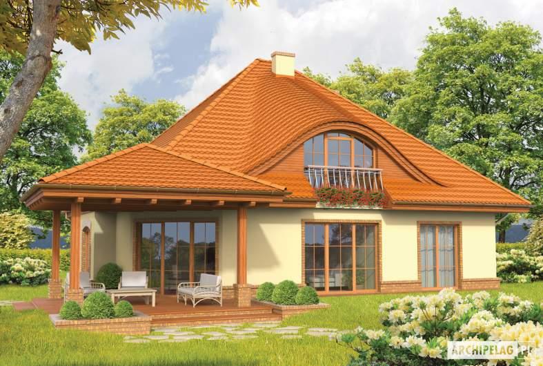 Projekt domu Seweryna (mała) G2 - wizualizacja ogrodowa