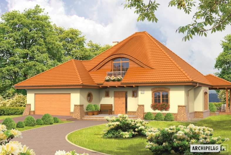 Projekt domu Seweryna (mała) G2 - wizualizacja frontowa