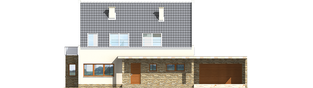 Projekt domu Gerda G2 - elewacja frontowa