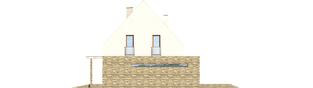 Projekt domu Gerda G2 - elewacja prawa