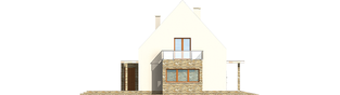 Projekt domu Gerda G2 - elewacja lewa