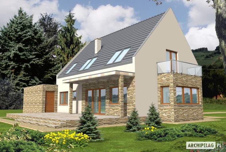 Projekt domu Gerda G2 - wizualizacja ogrodowa
