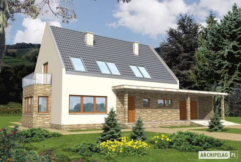 Projekt domu Gerda G2 - wizualizacja frontowa