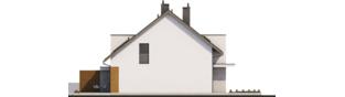 Projekt domu Wiktor G1 (bliźniak) - elewacja lewa