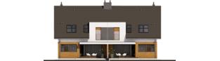 Projekt domu Wiktor G1 (bliźniak) - elewacja tylna