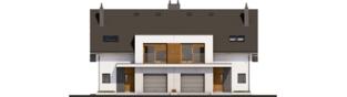 Projekt domu Wiktor G1 (bliźniak) - elewacja frontowa