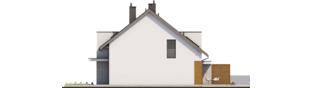 Projekt domu Wiktor G1 (bliźniak) - elewacja prawa