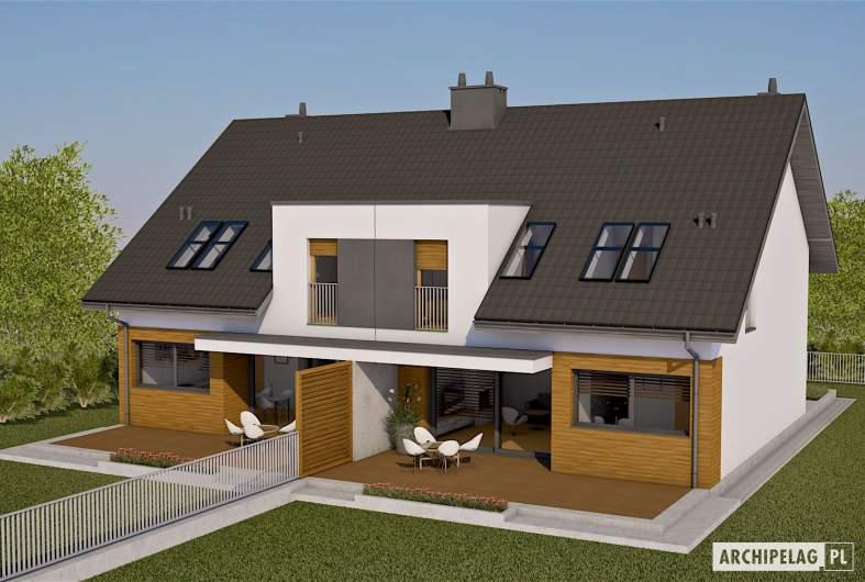Projekt domu Wiktor G1 (bliźniak) - widok z góry