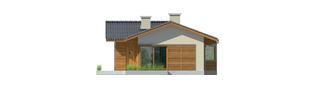 Projekt domu Bil - elewacja tylna