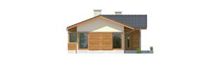 Projekt domu Bil - elewacja frontowa