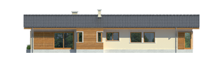 Projekt domu Bil - elewacja lewa