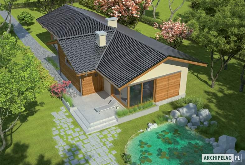 Projekt domu Bil - widok z góry