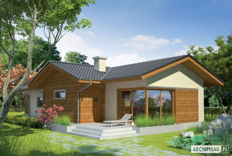 Projekt domu Bil - wizualizacja ogrodowa